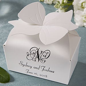 Personalized Bow Top Custom Wedding Favor Bo 1659d
