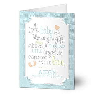 Personalized Baby Greeting Card - I Am Special - 16610