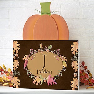 Personalized Pumpkin Sign - Autumn Hues - 16616