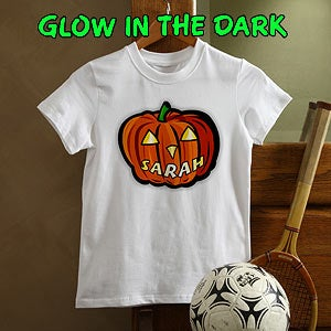Personalized Kids and Baby Clothes - Glow In The Dark Pumpkin - 1662
