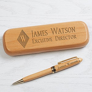Executive Monogram Personalized Pen Set - Alderwood - 16622