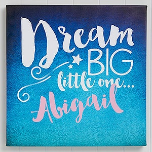 Personalized Baby Canvas Print - Sweet Dreams - 16628
