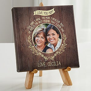 Personalized Mom Photo Canvas Print - Dear Mom - 16630