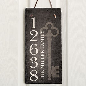 Personalized Slate Address Plaque - House Key - 16638