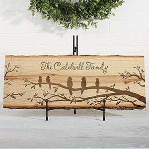 Personalized Basswood Plank Sign - Welcome To Our Nest - 16640