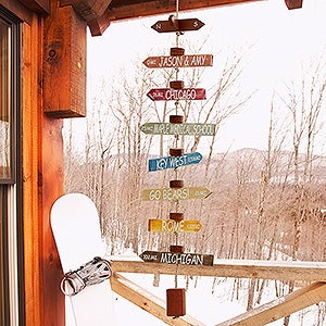 Personalized Hanging Memory Marker - Life's A Journey - 16655D