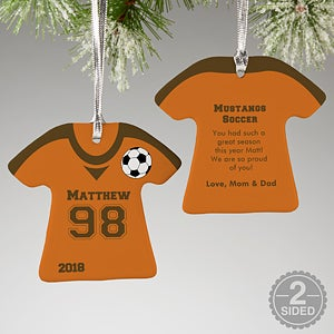 Personalized Soccer Jersey Christmas Ornaments - 16658