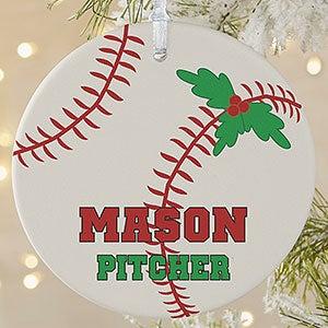 personalized baseball christmas ornaments 16665