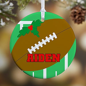 Personalized Football Christmas Ornaments - 16667