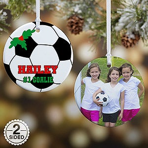 Personalized Soccer Christmas Ornaments - 16670