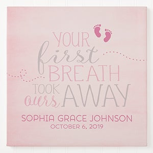 Personalized Baby Wall Art - You Took Our Breath Away - 16676
