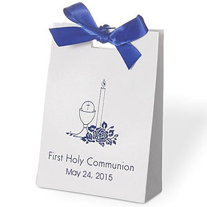 Personalized Baby Religious Tote Favor Box - 1667D
