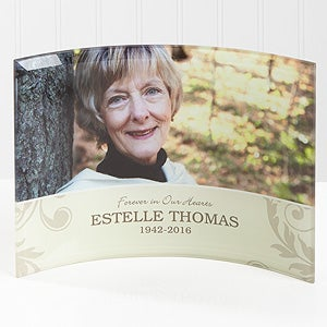 Personalized Photo Memorial Curved Glass - In Loving Memory - 16682