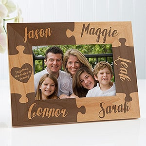 Personalized Puzzle Picture Frame - Together We Make A Family - 4x6