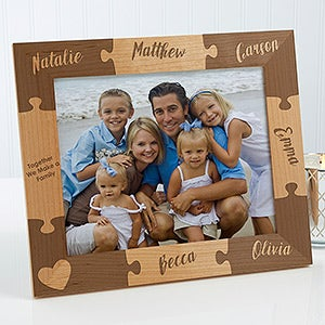 Personalized Together We Make A Family Puzzle Picture Frame 8x10