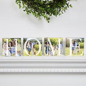 Personalized photo shelf blocks home home personalized photo shelf blocks set of 4 negle Image collections