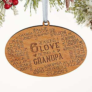 Personalized Wood Christmas Ornaments - Reasons Why For Him - 16690