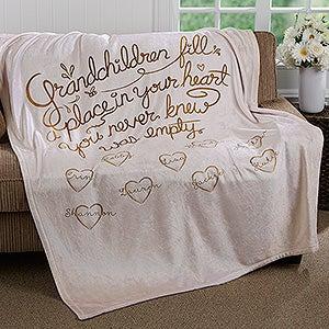 Personalized Fleece Blankets - Grandchildren Fill Our Hearts - 16692