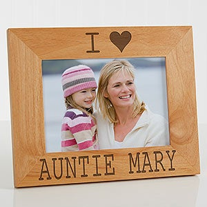 Personalized Wood Picture Frames - We Love Her - 16693