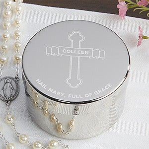 personalized religious rosary keepsake box of grace