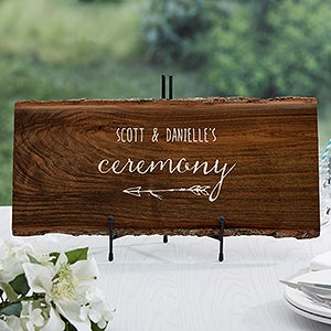 Rustic Wedding Reception Personalized Basswood Plank Sign - 16704