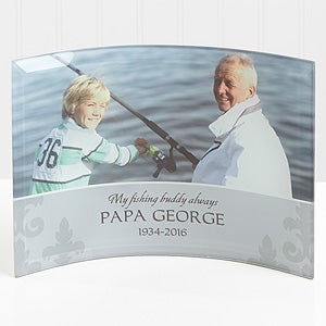 Personalized Photo Memorial Curved Glass - In Loving Memory of Him - 16712