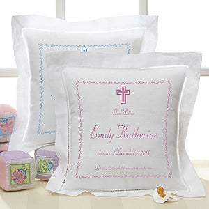 Personalized Christening Heirloom Pillow - 1672