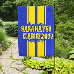 Personalized Graduation Garden Flag - School Spirit! - 16720