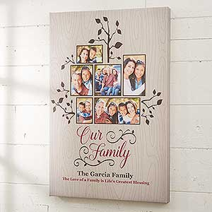 Photo Family Tree Personalized Canvas Print - 16727
