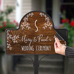 Personalized Rustic Garden Stake - Our Rustic Wedding - 16758