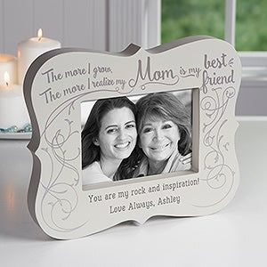 best friend mom personalized 5x7 picture frame block - Mom Frame