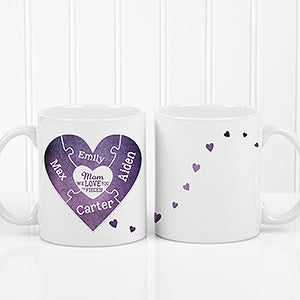 Personalized Puzzle Piece Coffee Mug - We Love You To Pieces - 16762