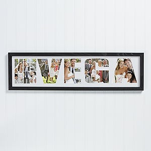 Personalized Wedding Photo Collage Frame - Mr. & Mrs. - 16766