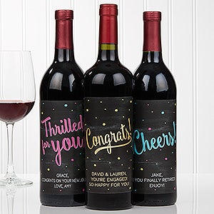 Personalized Wine Bottle Labels - Congratulations - 16773