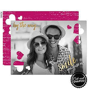 Personalized Couples Photo Greeting Cards - Smile You Gave Me - 16778