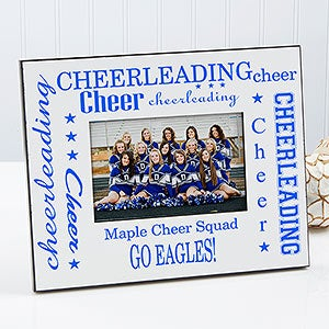 cheerleading personalized frame