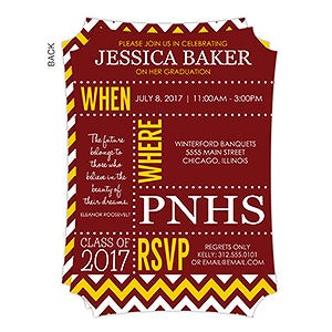 Personalized Graduation Invitations - School Memories - 16790