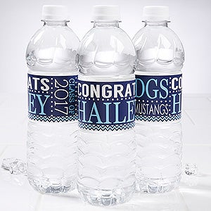 Personalized Graduation Party Water Bottle Label - School Memories - 16794