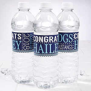 Personalized Water Bottle Labels - Graduation Party - 16794
