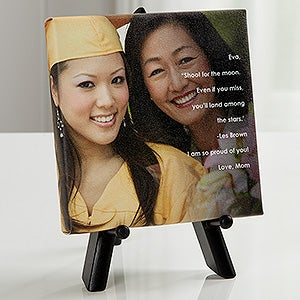 Personalized Graduation Photo Canvas Print - As You Leave Photo Sentiments - 16801