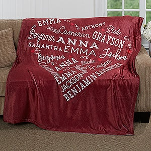 Personalized Fleece Blanket - Close To Her Heart - 16802