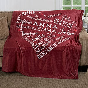 Close To Her Heart Personalized 50x60 Fleece Blanket