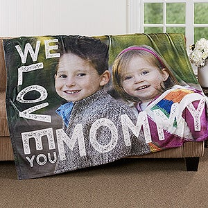 Personalized Photo Fleece Blanket - Loving Her - 16803