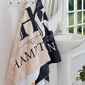 Personalized Bath Towels - Elegant Monogram - 16807