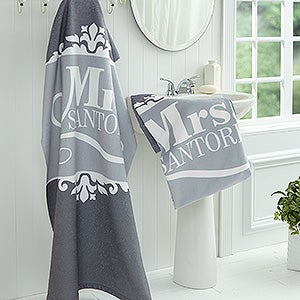 Personalized Bath Towel - The Happy Couple - 16808