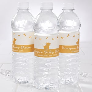 Personalized Baby Shower Water Bottle Labels - Zoo Animals - 16816