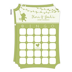 Personalized Baby Shower Bingo Cards - Baby Zoo Animals - 16822
