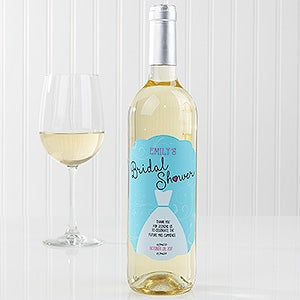 Personalized Bridal Shower Wedding Wine Bottle Labels - The Dress  - 16826