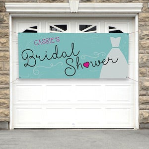 Personalized Wedding Bridal Shower Banner - The Dress - 16827