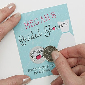 personalized bridal shower scratch off game the dress